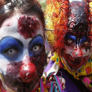20,000 people dressed as zombies take to the streets of Santiago de Chile