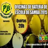 Oficina gratuita Percussão do Brasil