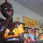 Exposição e venda de artesanato em Santê