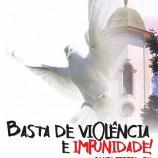 Passeata pela paz e contra a violência em Santa Tereza