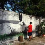 Artistas começam as obras em Santa Tereza