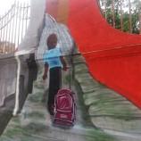 Camila Lacerda leva arte para muro da Escola José Bonifácio