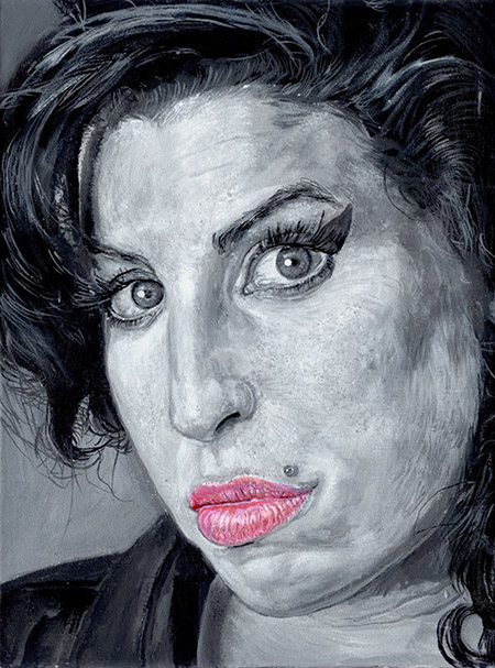 """Exposição virtual """"Amy a Mil Traços"""" homenageia Amy Winehouse"""